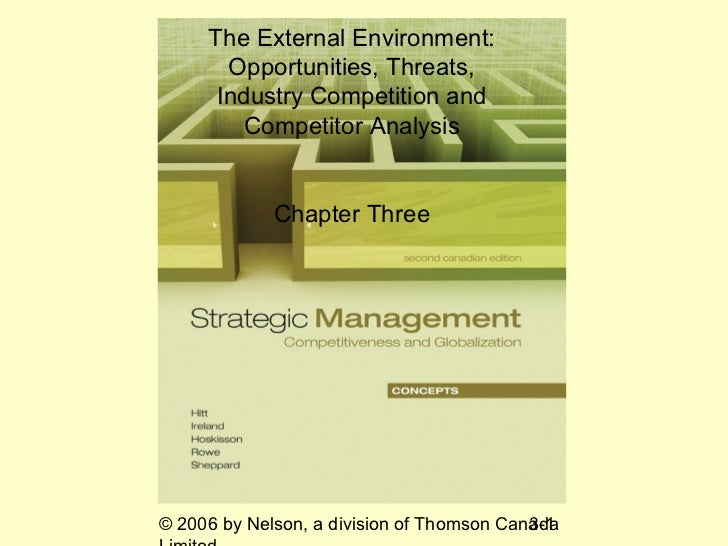The External Environment:       Opportunities, Threats,      Industry Competition and         Competitor Analysis         ...