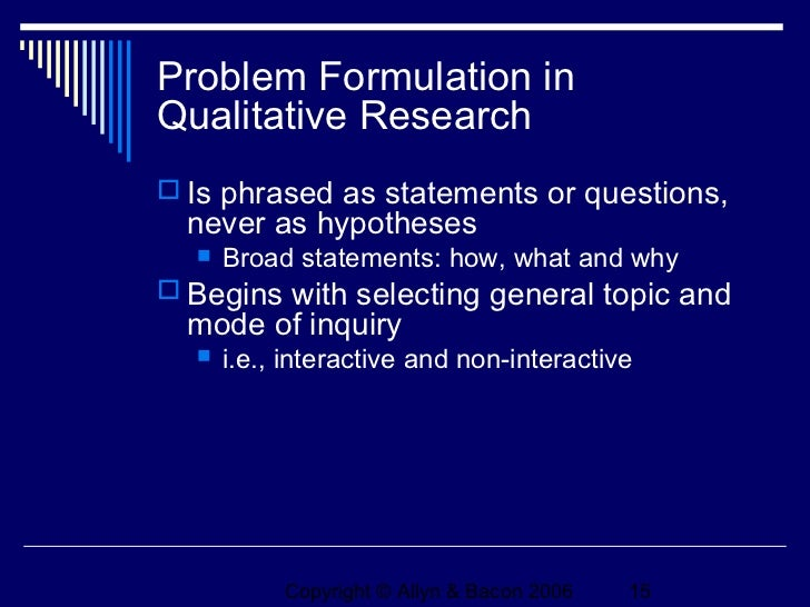 formulating problem statements Before you formulate a thesis statement, you'll need to start following are examples of both good and problematic thesis statements: problem: thesis is a simple.