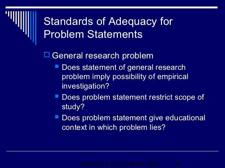 Formulating Problem Statements