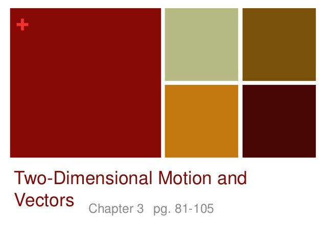 +Two-Dimensional Motion andVectors Chapter 3 pg. 81-105