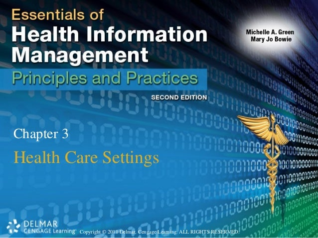 Copyright © 2011 Delmar, Cengage Learning. ALL RIGHTS RESERVED.Chapter 3Health Care Settings