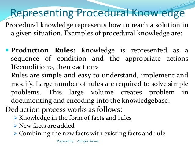 Developing Knowledge Based Systems
