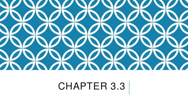 CHAPTER 3.3