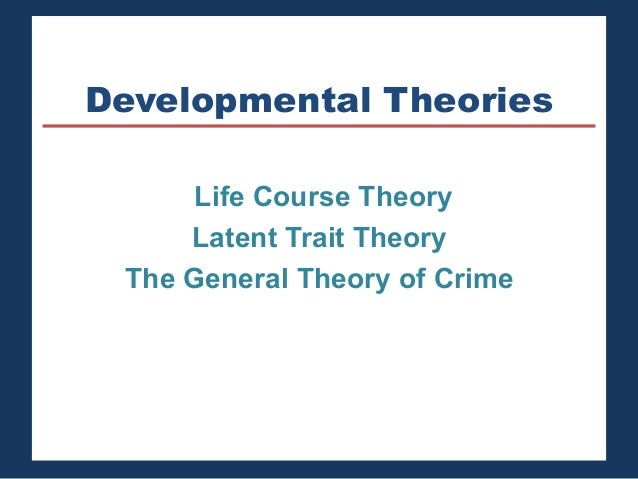 the three theories linked to the latent trait theory in criminology At the end we will finish with solution focused brief theory all three theories have  - criminology theories are conflict theory which  latent trait theory.