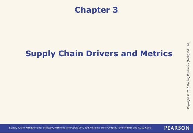 Copyright © 2013 Dorling Kindersley (India) Pvt. Ltd.  Chapter 3  Supply Chain Drivers and Metrics  Supply Chain Managemen...