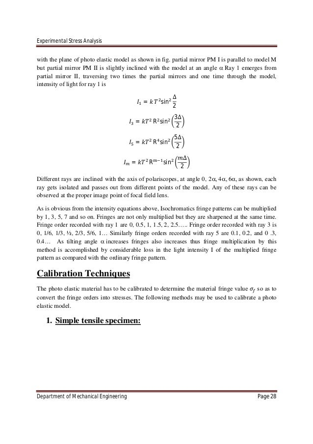 experimental stress analysis-Chapter 3