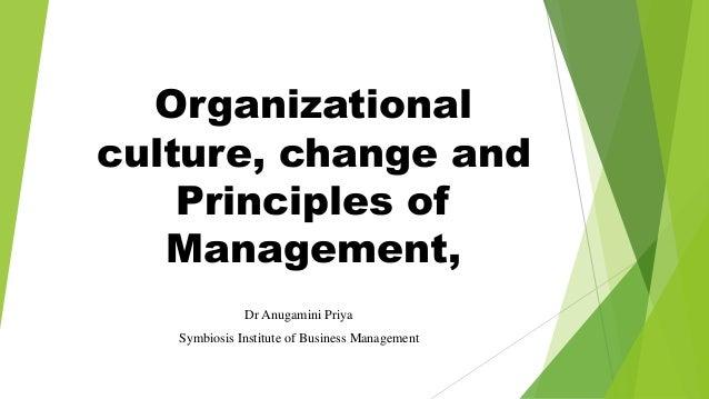 Organisational culture and change management Slide 1