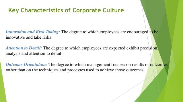 corporate culture and change management