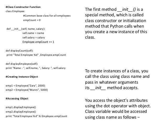PYTHON-Chapter 3-Classes and Object-oriented Programming