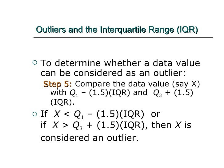 Outlier Formula