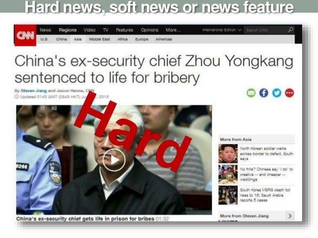 Hard news, soft news or news feature