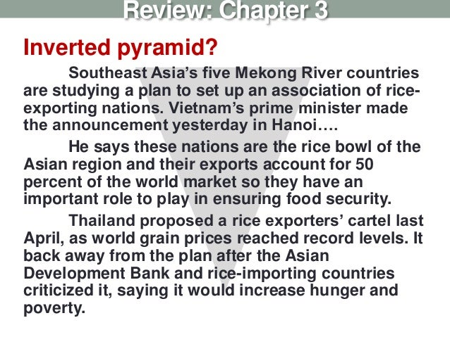 Inverted pyramid? Southeast Asia's five Mekong River countries are studying a plan to set up an association of rice- expor...