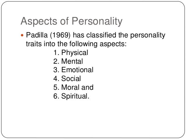 the components of personality