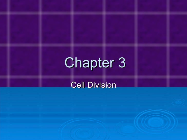 Chapter 3 Cell Division