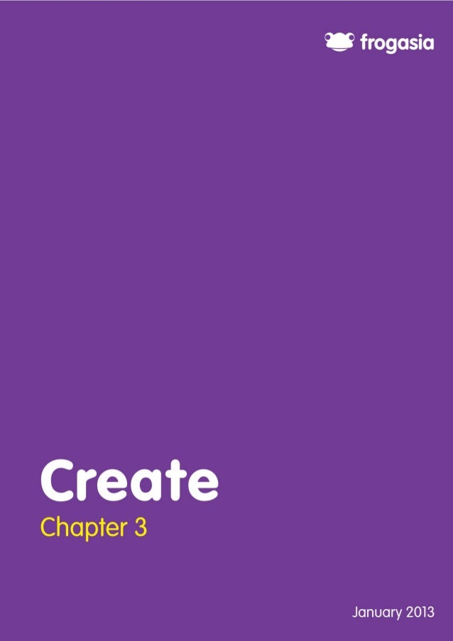 1Chapter 3:  Create