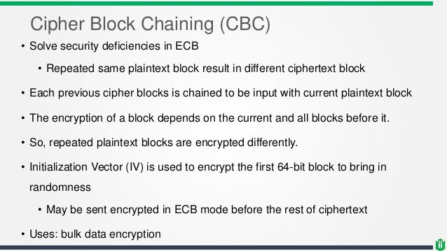 CISSP - Chapter 3 - Cryptography