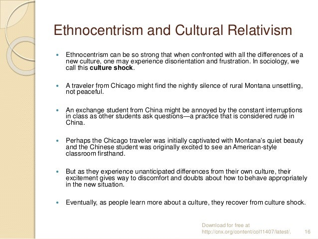 compare and contrast ethnocentrism and cultural relativism In this lesson, explore the two major ways in which people encounter other cultures: ethnocentrism or cultural relativism cultural relativity, ethnocentrism.