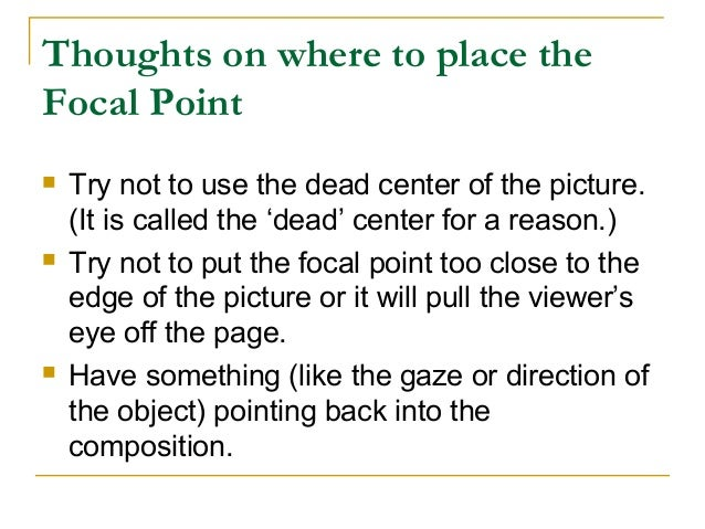 Chapter 3 emphasis and focal point