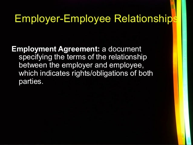 Relationships between employees and employers