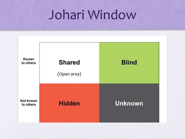 Chapter 3 Interpersonal Communication – Johari Window Worksheet