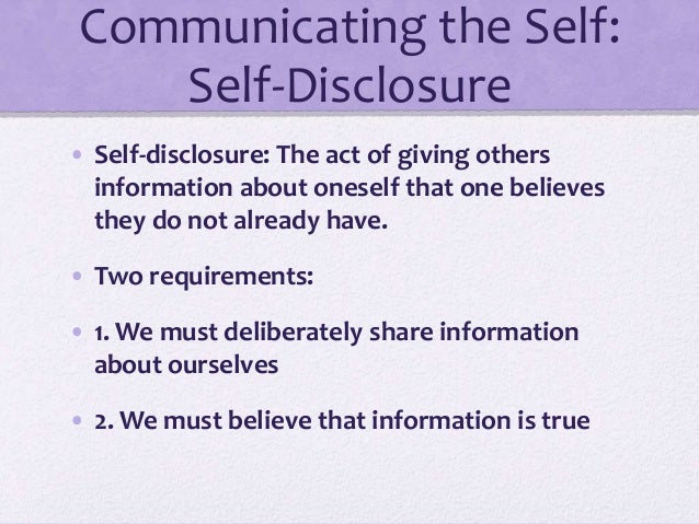 Types of disclosure
