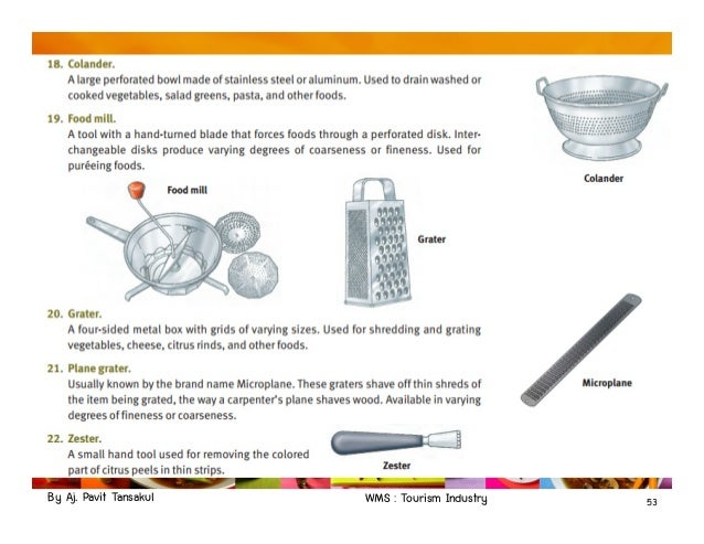 Chapter 3 Kitchen Tools And Equipments