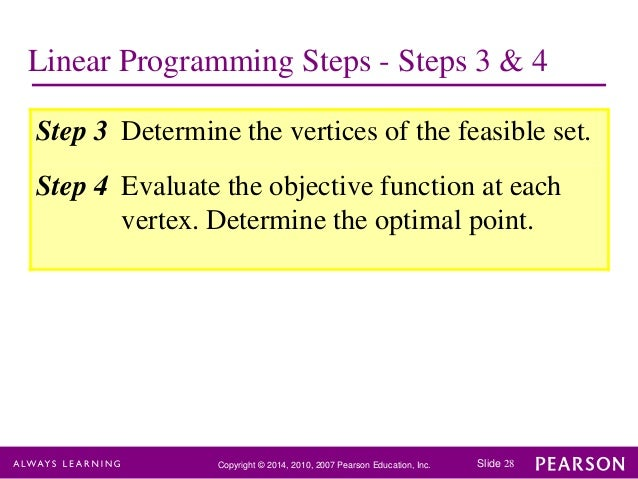 linear programming chapter 8-9 chapter 8 linear programming with matlab the matlab function linprog can be used to solve a linear programming problem with the following syntax (help linprog).