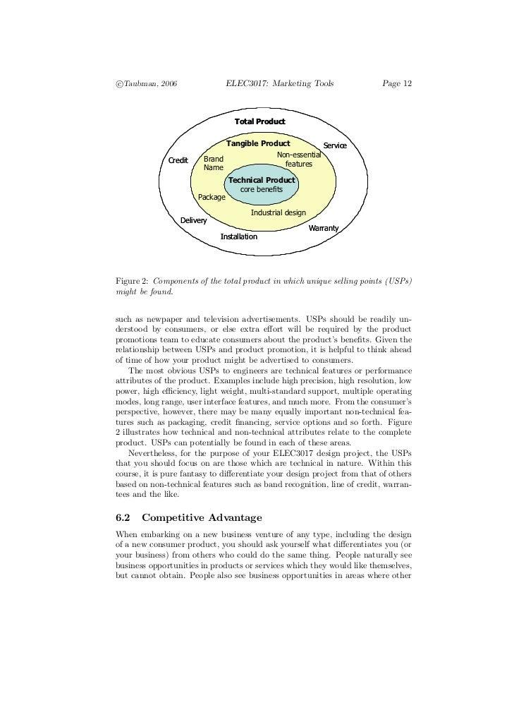 c°Taubman, 2006                   ELEC3017: Marketing Tools               Page 12                                   Total ...