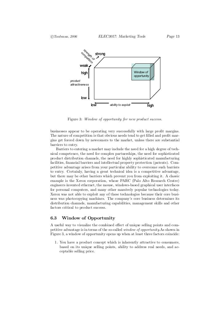 c°Taubman, 2006                     ELEC3017: Marketing Tools                  Page 13                     st             ...