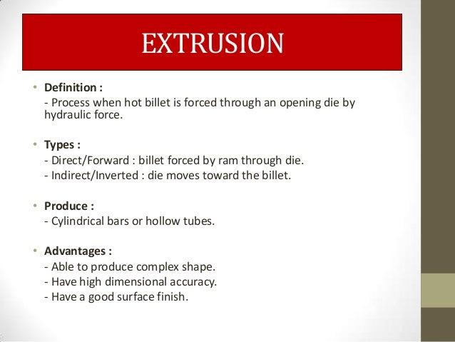 Beautiful EXTRUSION U2022 Definition ...