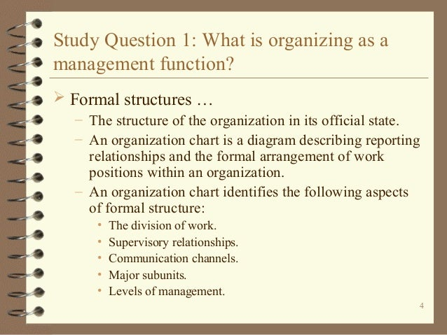 Chapter 3 organizing introduction