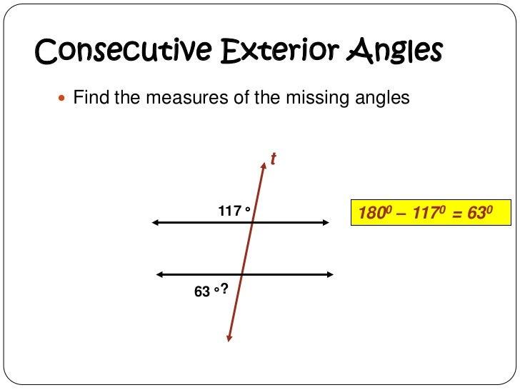 Delightful Consecutive Exterior Angles ...