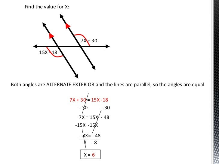 how to find the parallel of a line
