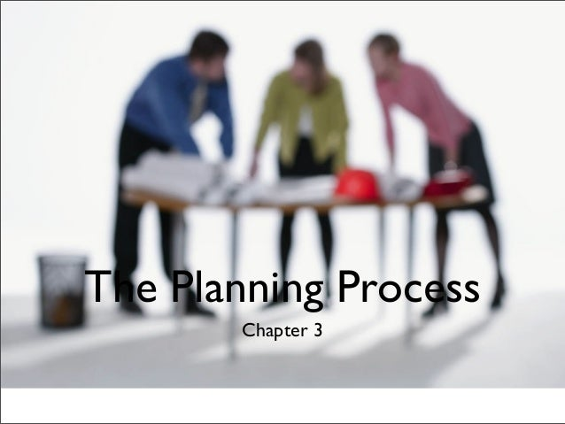 The Planning Process Chapter 3