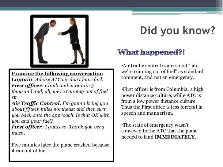 """Did you know?                                               •Air traffic control understood """" ah,Examine the following con..."""