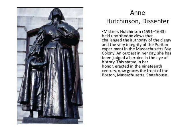 Anne Hutchinson ...  sc 1 st  SlideShare & Chapter 3 - Settling the Northern Colonies