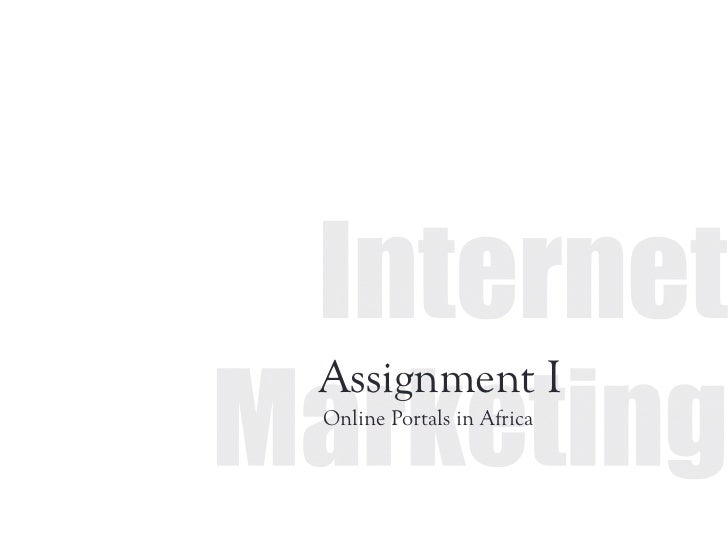Assignment IOnline Portals in Africa