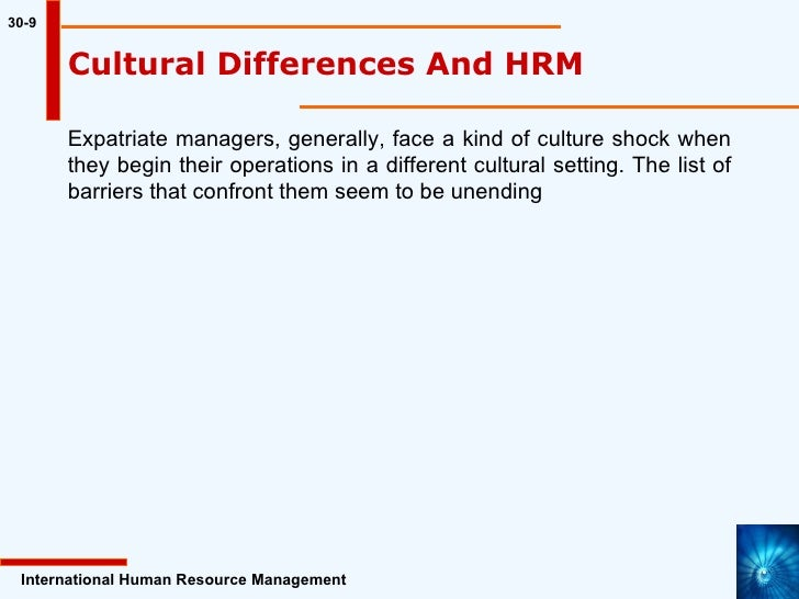 understanding culture in international hrm expartriate culture shock An understanding of the underlying theoretical framework is  the focus there will be on culture shock,  international workers being kept hostage.