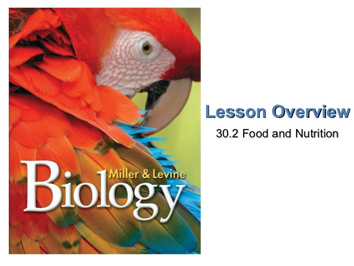 Lesson Overview 30.2 Food and Nutrition