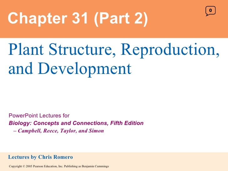 Chapter 31 (Part 2) Plant Structure, Reproduction, and Development 0