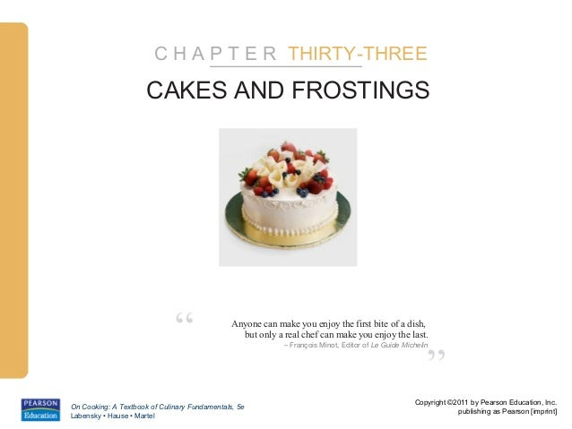 "C H A P T E R THIRTY-THREE                      CAKES AND FROSTINGS                              ""                Anyone c..."