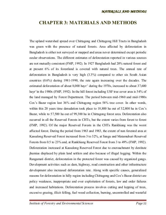 MATERIALS AND METHODS  CHAPTER 3: MATERIALS AND METHODS  The upland watershed spread over Chittagong and Chittagong Hill T...