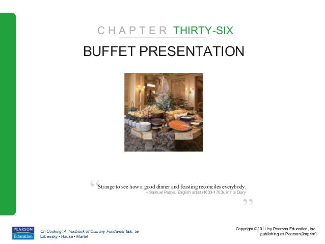 "C H A P T E R THIRTY-SIX                      BUFFET PRESENTATION                         ""   Strange to see how a good di..."