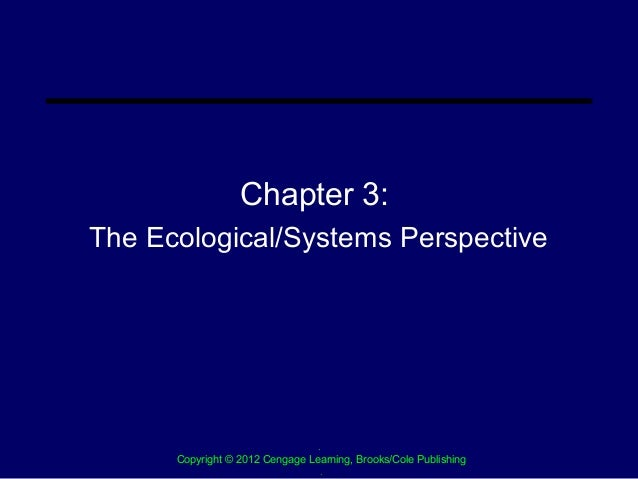 Chapter 3:The Ecological/Systems Perspective                                .      Copyright © 2012 Cengage Learning, Broo...