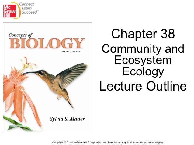 Chapter 38                                        Community and                                          Ecosystem        ...