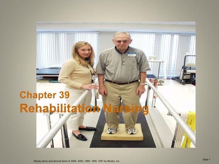 Chapter 39 Rehabilitation Nursing