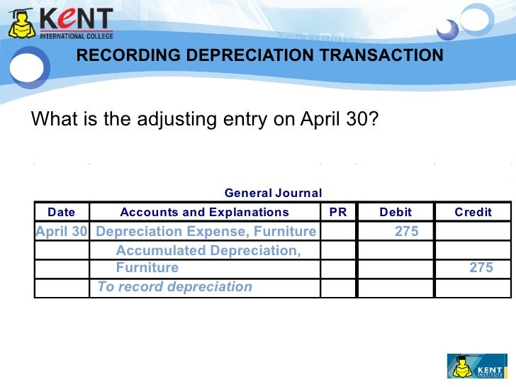 Elegant ... Furniture Accounts Payable 16,500; 10. RECORDING DEPRECIATION ...