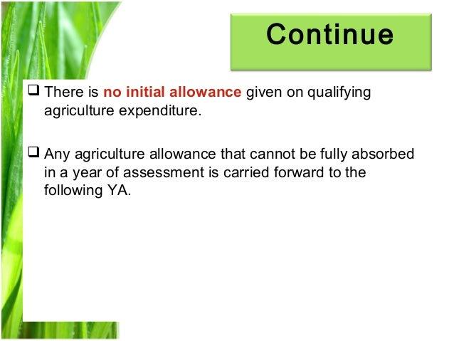 Chapter 3 agriculture allowance studnt Slide 12