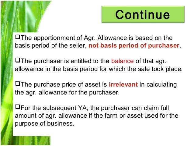 Chapter 3 agriculture allowance studnt Slide 16