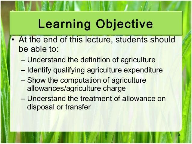 Chapter 3 agriculture allowance studnt Slide 2